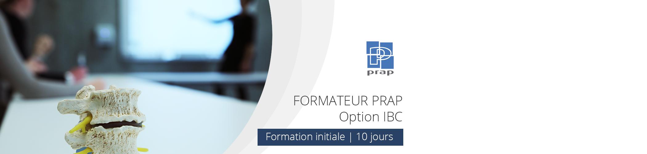 Inter-entreprises - Formation initiale Formateur PRAP IBC en Juin et juillet 2016 à Paris