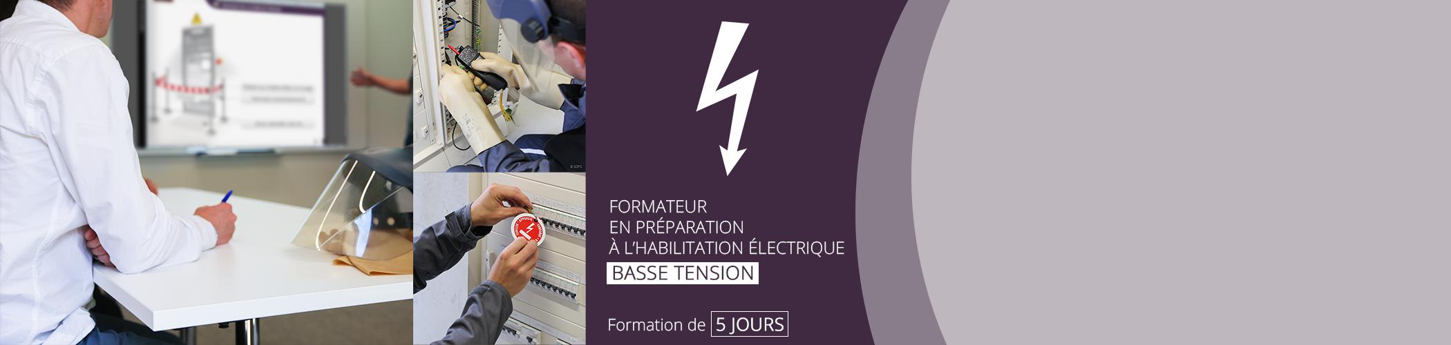 Formation de formateur en préparation à l'habilitation électrique du 22 au 29 août à Belz (56)